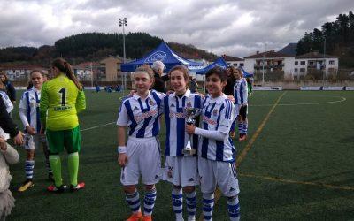 Tres jugadoras del Infantil de Honor convocadas por la Real Sociedad