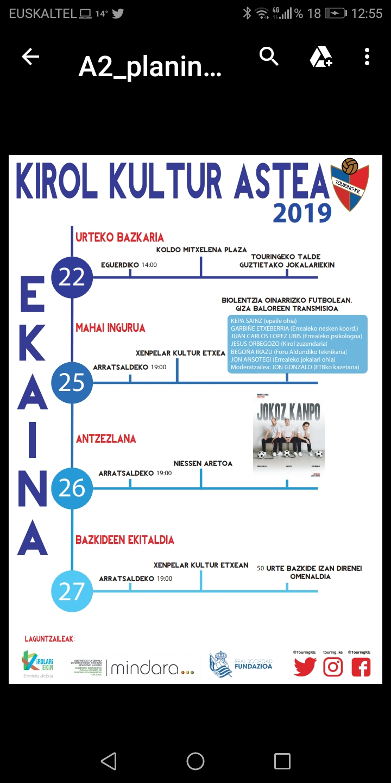Semana deportivo-cultural 2019
